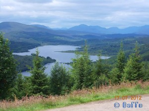 Parking at Loch Garry – July 2012
