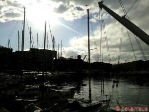 ...Sonne am Porto Antico