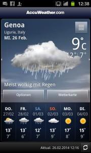 ...das Wetter wird aber auch immer schlechter...