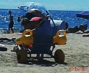 Rollstuhl für den Strand