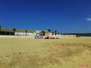 Kiter am Strand von Barbate...