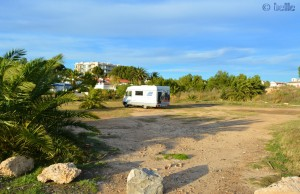 Parking at the Beach of L'Hospitalet De L'Infant - 2014