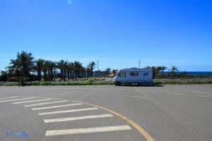 Parking in Retamar - Calle de los Juegos de Casablanca, 1, Almería, Spanien – March 2015