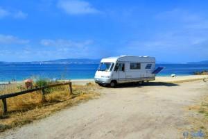 Parking at Cabo de Udra - Playa de Mourisca - Cabo Udra, Bueu, Pontevedra, Spanien