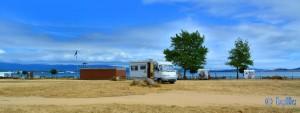 Parking in Isla de Arousa - Carretera Po-M, 36626 Illa de Arousa, Pontevedra, Spanien – July 2015