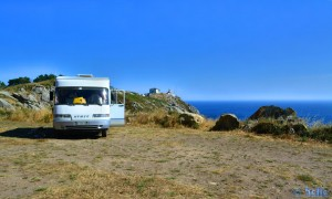 Parking at Cabo Finisterre - AC-445, 15155 Fisterra, A Coruña, Spanien – July 2015