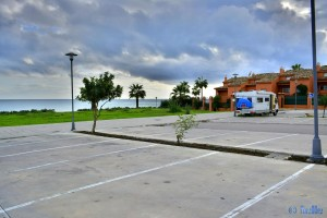 Parking at Bahia de la Plata - Estepona - Calle Terral, 99, 29689 Estepona, Málaga, Spanien – November 2015