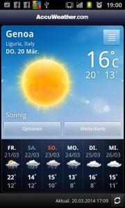 Wetter Genua