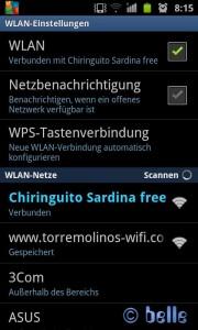 WiFi from Chiringuito Sardina free – March 2015