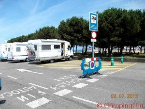 Area Sosta Camper in Spain -  Gijon