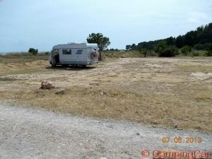Parking at the Beach of L'Hospitalet De L'Infant - 2013