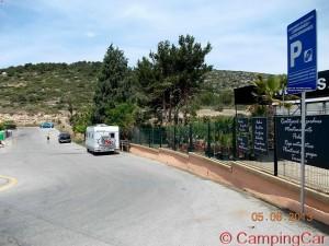 Parking in Carrer Josep Bascos I Carbonell, 1V, 08870 Sitges - Barcelona - Spanien – June 2013