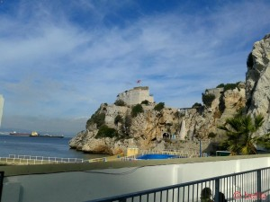 Berg zum Weg zum Point of Europe in Gibraltar