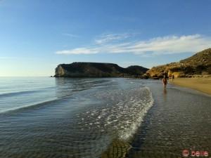 Rechte Seite vom Strand