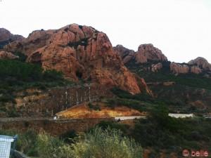 Bergmassiv bei Anthéor Cap Roux