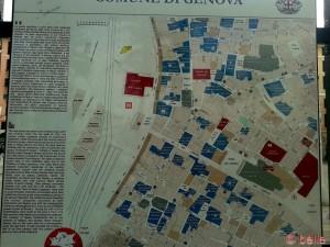Karte am Porto Antico