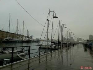 Genua ersäuft im Regen...