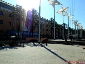 Sonne tanken am Porto Antico