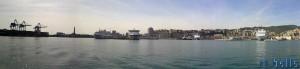Panorama vom Hafen am Porto Antico