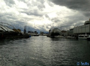 Beeindruckender Himmel in Genua