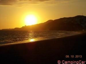 Sonnenuntergang in Nerja