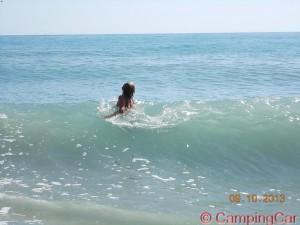 Ich im Kampf mit den Wellen ♥