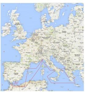 Carta EU compl. + Ferry