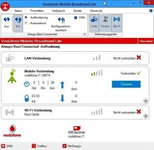 Keine Internetverbindung mit Vodafone und Windows8