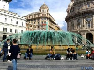 Brunnen am Piazza de Ferrari