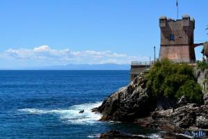 Gebirgskette hinter Genua