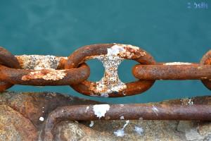 alte, verrostete Eisenkette