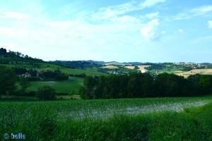 Italy - Stellplatz Montiglio - Aussicht nach Nord