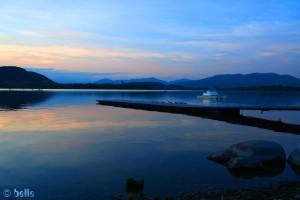 Sonnenuntergang am Lago di Comabbio