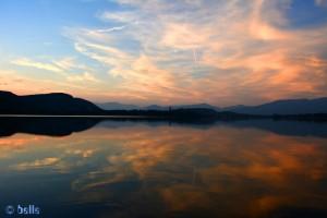 ...traumhaft schön!!! Sonnenuntergang am Lago di Comabbio