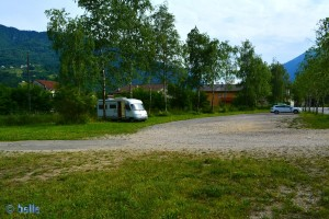 Parking on the Lago Santa Croce – Farra D'Alpago