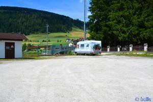 Stellplatz am Stadium Dobbiaco / Toblach