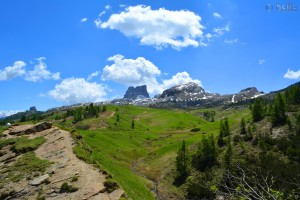 Aussicht vom Passo Falzarego, 32043 Cortina d'Ampezzo Belluno, Italien