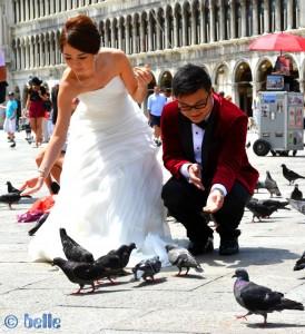 Hochzeit in Venezia am Piazza San Marco – Markusplatz in Venedig