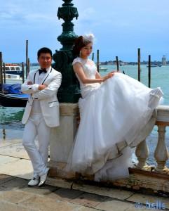 Werbeaufnahmen für Hochzeiten :?: am Canal Grande Venezia