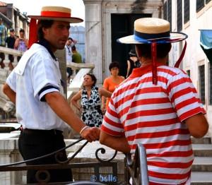 Typische Gondoliere in Venezia – Venedig