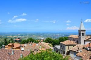 Aussicht von San Marino auf die Adria