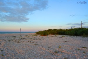 Beach of Marotta im Sonnenuntergang