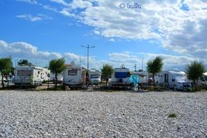 Stellplatz auf der Camper-Area in Fossacesia Marina
