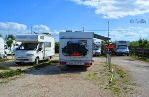 Unser Stellplatz auf der Camper-Area in Fossacesia Marina