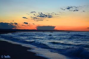 Sonnenuntergang am Strand von Termoli
