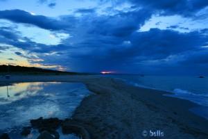 Das letzte bisschen Sonnenuntergang in Termoli Durch die Wolken hat man leider nicht viel vom Sonnenuntergang gesehen :/