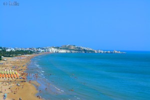 Vieste mit dem Strand