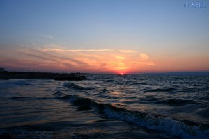 Sonnenuntergang am Strand von Torre di Pietra