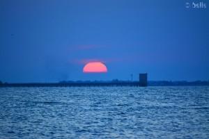 Sonnenuntergang in Torre di Pietra – mit dem Objektiv 55/300 aufgenommen.