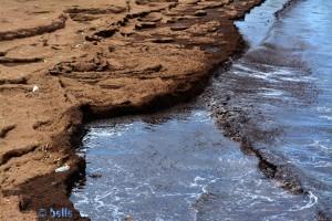 """Der """"Kaffe-Strand"""" mit dem schwarzen Wasser"""